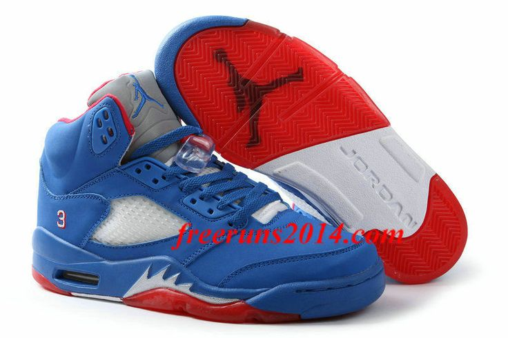 outlet store sale 38e02 b8f6d ... air jordan 5 retro chris paul pe royal blue fire red white mens ...