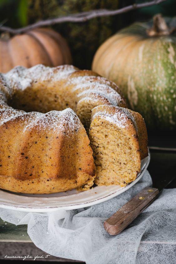 TORTA VEGANA ALLA ZUCCA E YOGURT DI SOIA - vegan cake pumpkin