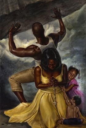 African American art brings out everything I love about my culture. I want my house to be filled with artwork like this