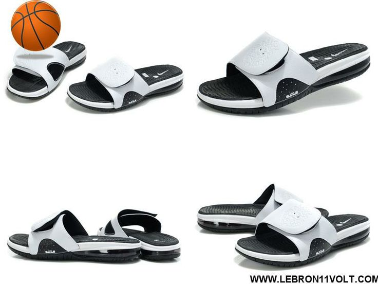 Buy Discount Nike Air Lebron Slide White Black 487332 100 Sports Shoes Store 661133d303