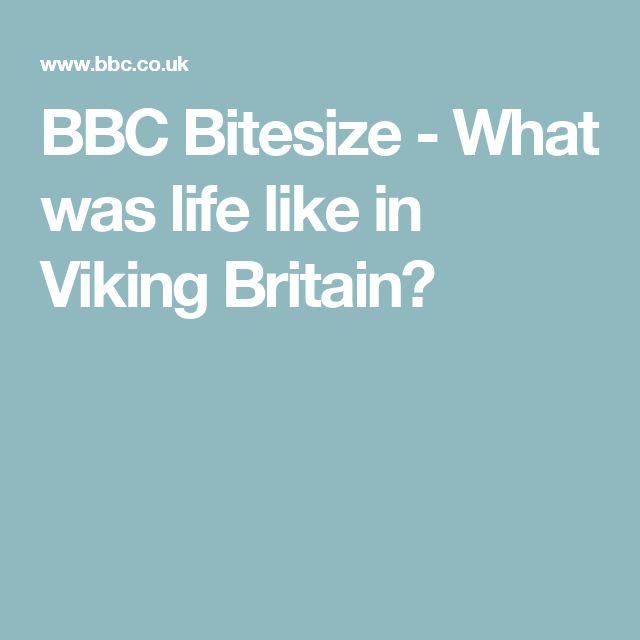 BBC Bitesize - What was life like in Viking Britain?