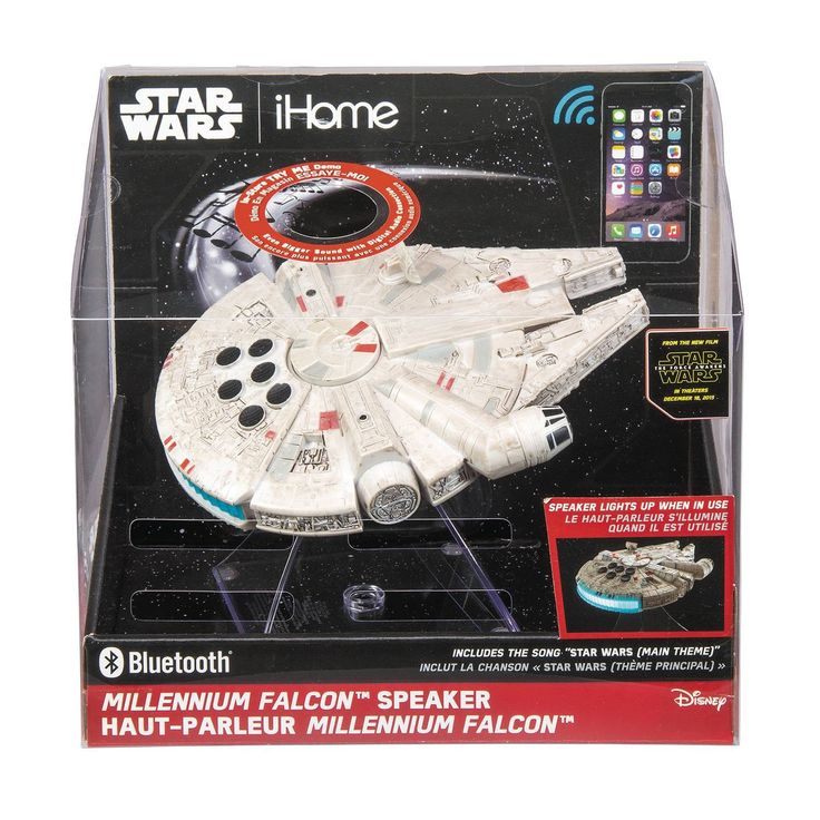 Make music with style with the Millennium Falcon Bluetooth Spakers