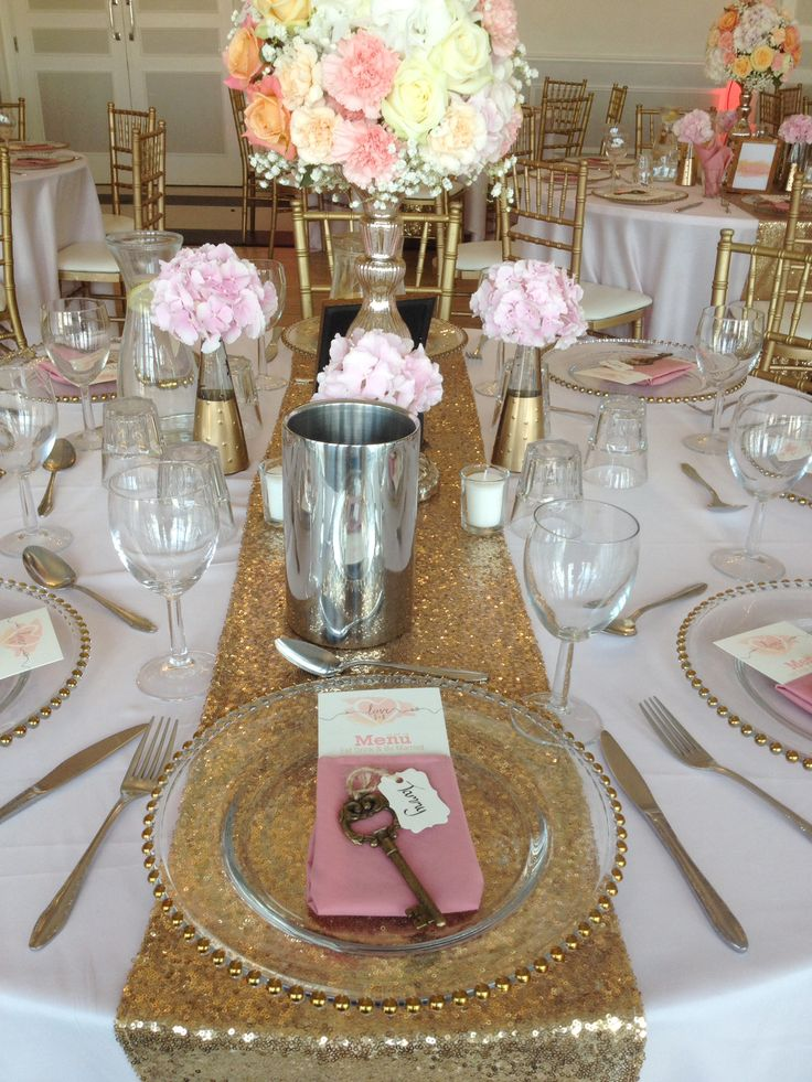 A romantic blush and gold and ivory themed wedding menu. Created by #novaweddingplanning