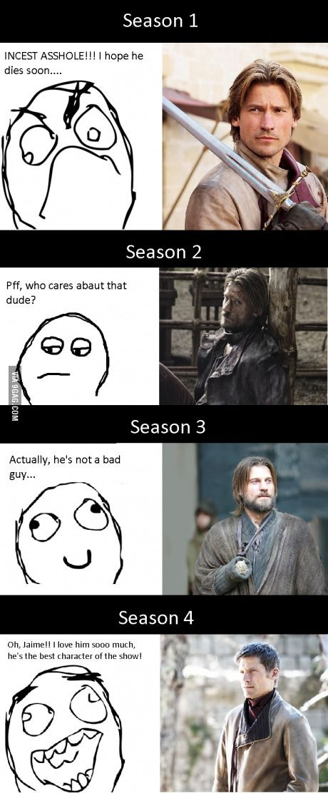 The reputation of Jaime Lannister has changed a lot