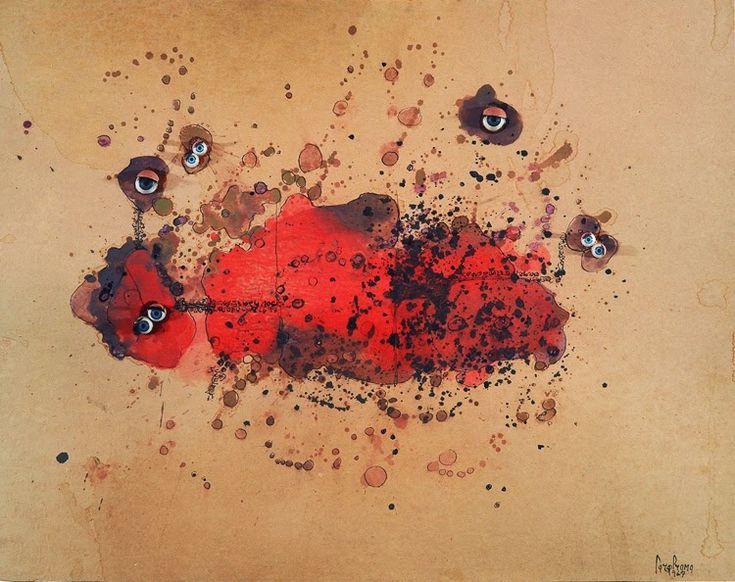 Obra de la artista italiana Carol Rama en el MACBA   www.stylefeelfree.com