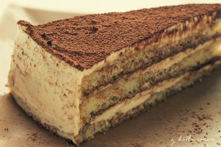 Tort Tiramisu - plan na sobotni wieczór lepszy niż kino ;-) #tort #tiramisu #deser