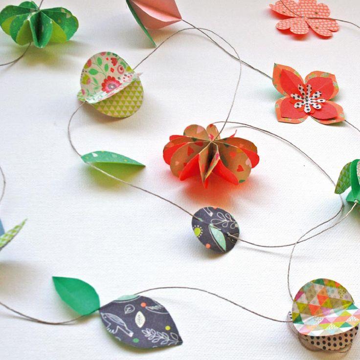 fabriquer une guirlande de papier en origami origami and diy and crafts. Black Bedroom Furniture Sets. Home Design Ideas