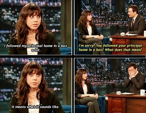 I love Aubrey Plaza and how strange she is!