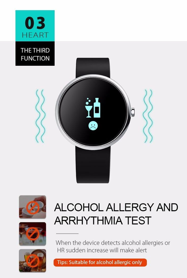 H09 0.95 Inch OLED Screen Alcohol Allergy Test Blood Pressure Health Bracelet