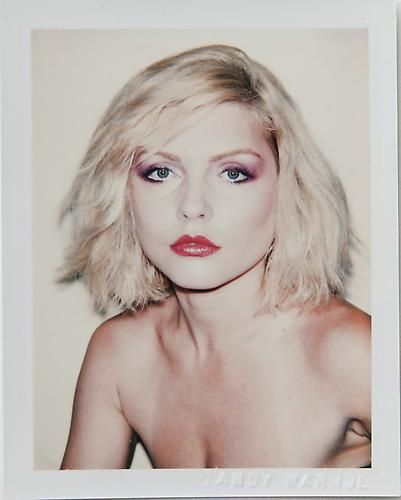 """That polaroid photo Andy Warhol took of Debbie Harry before painting her portrait.    Made me sing, """"Once I had a love and it was a gas. Soon turned out had a heart of glass..."""""""