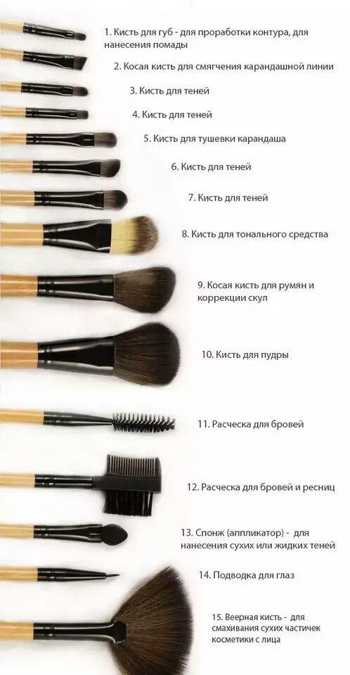 Естественно, для нанесения профессионального макияжа нужно использовать кисти из натурального ворса: белки, пони, козы и соболя.