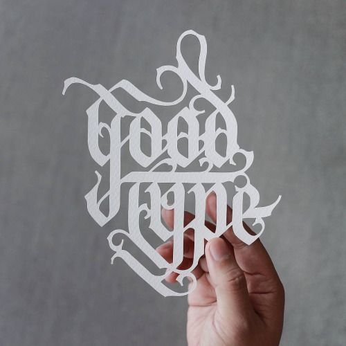 Strength in letters. Thank you @goodtype for supporting my work and congratulations on a successful @kickstarter campaign! #goodtype #goodtypebook #paper #typography #lettering #handmade #typelove #typo #handlettering #papercutcalligraphy #papercuttypography #strengthinletters by @battery_full (Via @andreirobu) http://ift.tt/1eoPu0b
