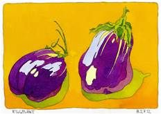 This is a split complementary colour schemes photo. It contains dark purple  yellow and green