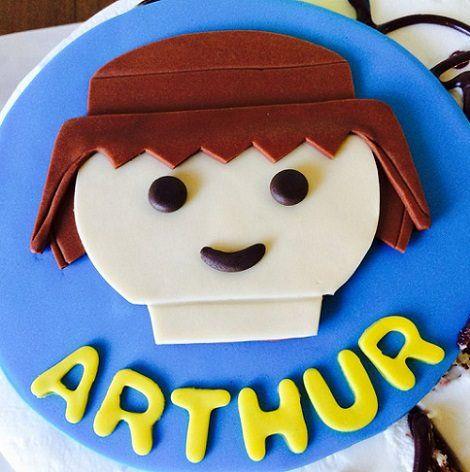 tarta de cumpleaños de playmobil