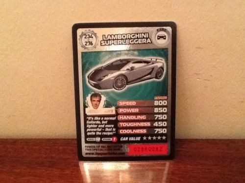 Top Gear Turbo Challenge RARE Lamborghini Superleggera 234/276