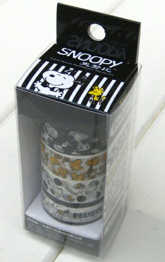 4 Rollen Snoopy Washi Tape Klebeband dekorativen Band DIY Scrapbooking Planer Erdnüsse Washi Tapes