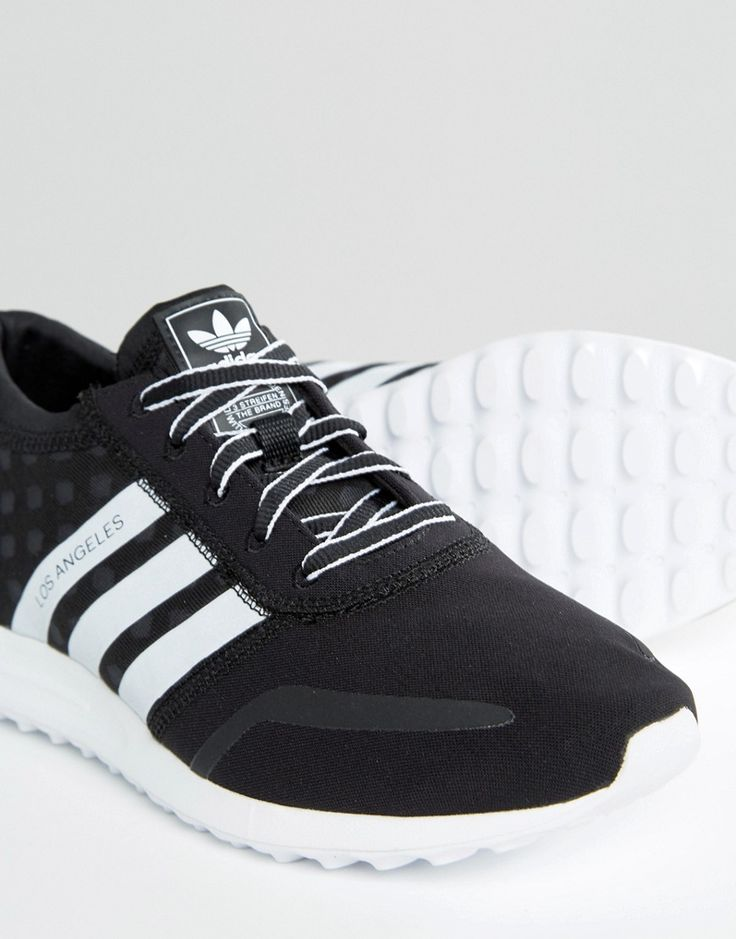 Image 4 of adidas Originals Black And White Los Angeles Trainers
