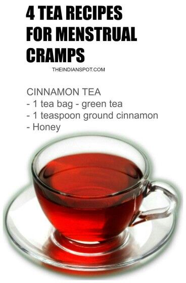 Tea recipes for menstrual cramps