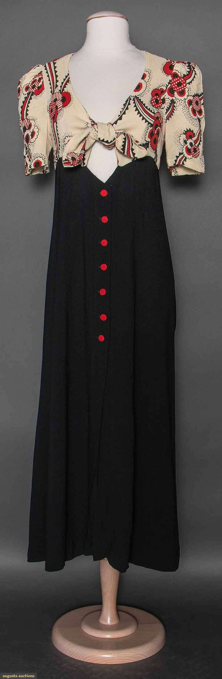 Ossie Clark Printed Dress, Early 1970s, Augusta Auctions, April 8, 2015 NYC, Lot 66