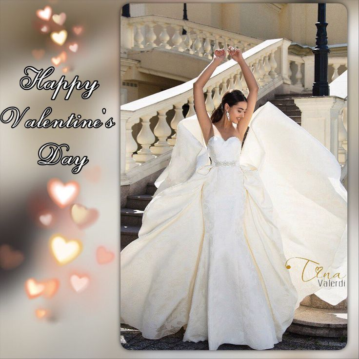 Dear brides! We congratulate you on the most romantic holiday of the year! And would like to wish you a great love and sincere feelings! ❤❤❤ #tinavalerdi #love #happyvalentine'sday #couple #bride #weddingdress #wedding #wedding #dress #handmaid
