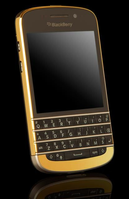 Gold Blackberry Q10 - I have an iPhone for work and a Moto X for personal use. Miss my Blackberry!