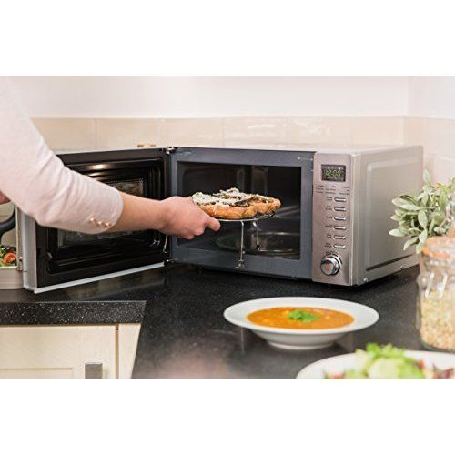 Small Compact Microwave Oven Digital Automatic Free Standing Grill Rack Cooker