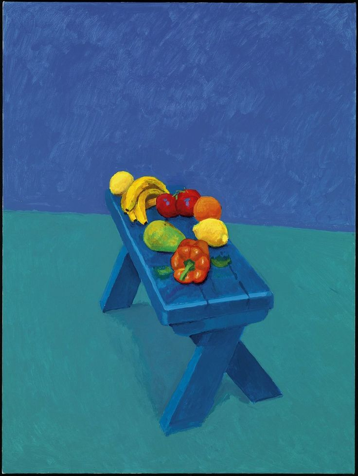 """David Hockney, '""""Fruit on a Bench, 6th, 7th, 8th March 2014"""" from """"82 Portraits and 1 Still-Life"""" ', 2014"""