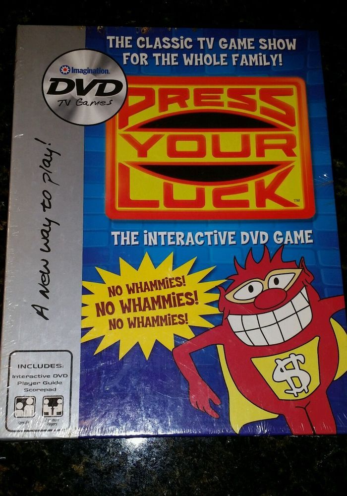 Press Your Luck The Interactive DVD Game New 2006 Sealed game night NO WHAMMIES…