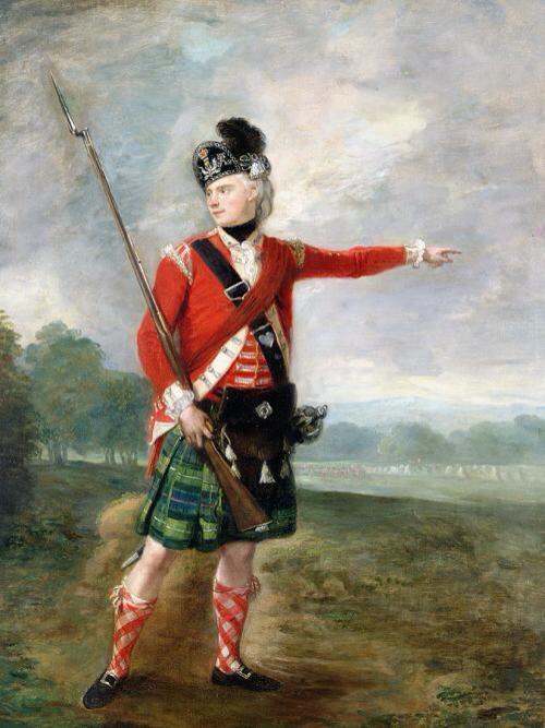 A Scottish Light Infantry Captain American revolutionary