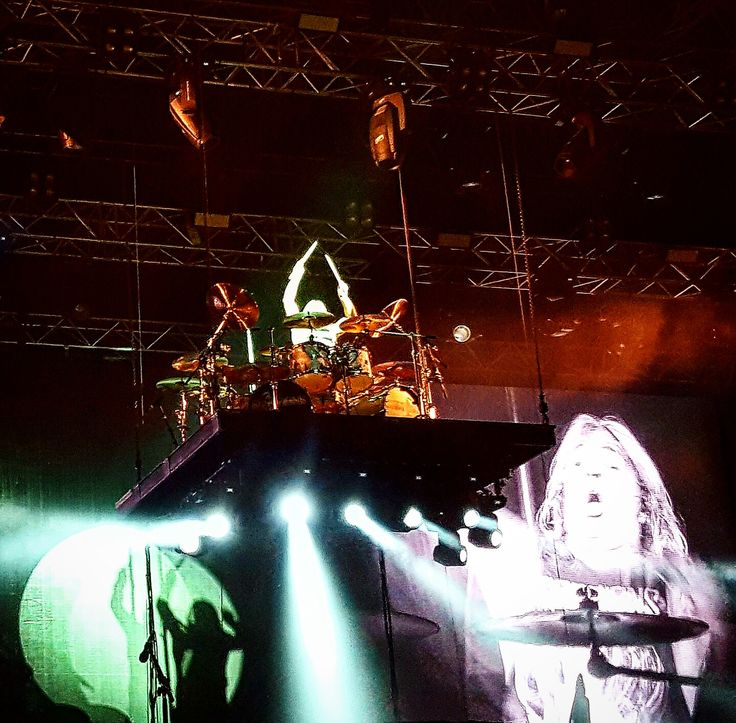 Mikkey Dee during a killer drum solo. Scorpions, 16.07.2016, Bucharest, Romania