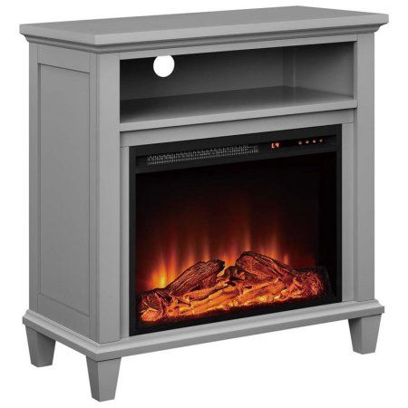 Altra Ellington 32 inch TV Stand with Fireplace, Multiple Colors, Gray