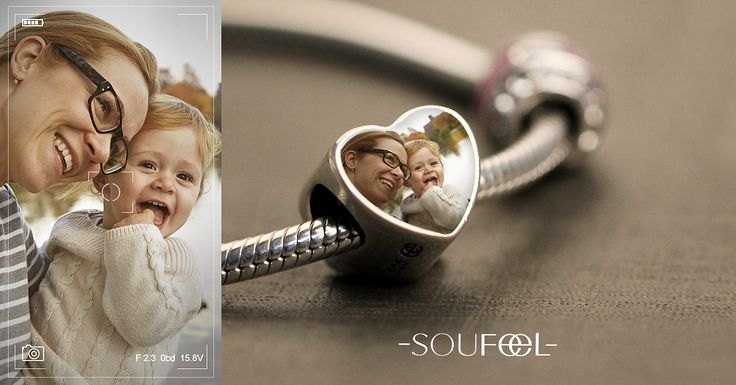 Upload your baby photo into the charms. SOUFEEL Personalized Memorable Charms, for every memorable day !