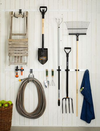 Clean and neat storage for garage or utility room
