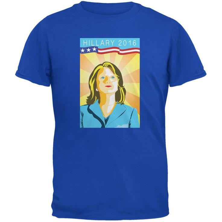 Election Hillary Clinton Poster Royal Adult T-Shirt