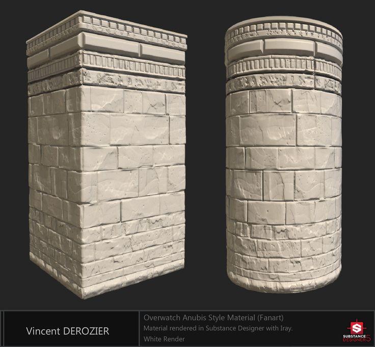 ArtStation - Fanart /// Overwatch Temple of Anubis Material , Vincent Dérozier