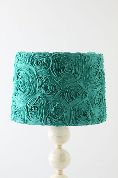 I have this thing for lamps w/unique colorful shades - love splashes of color in my house in the accent pieces!!
