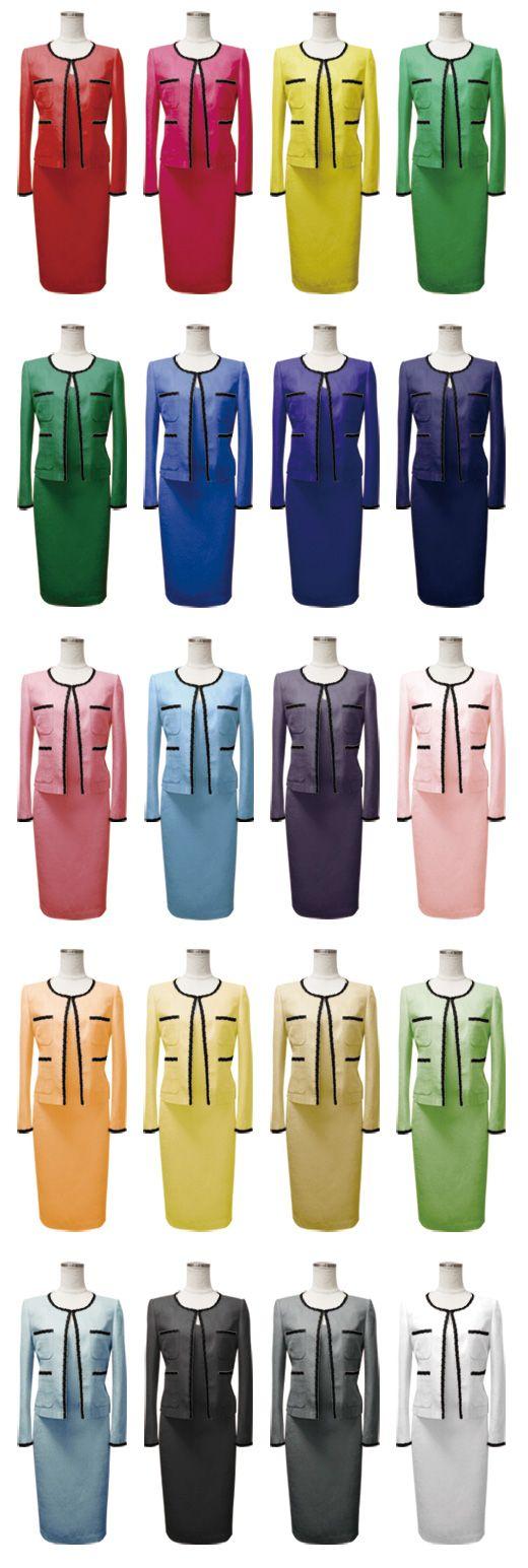 スイスのきれいな空気から生まれた鮮やかな20色ワンピーススーツ