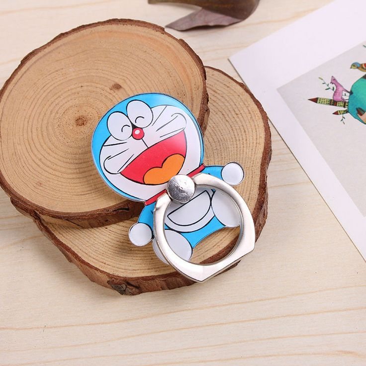 Cloudtech Universal Bracket Lazy A Doraemon Cute Cartoon Jingle Buckle Ring Female Mobile Phone Holder Ring For Smart Phone