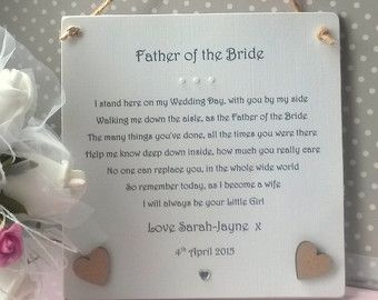 Thank You Mum and Dad Wedding gift from Bride by AandFCrafts