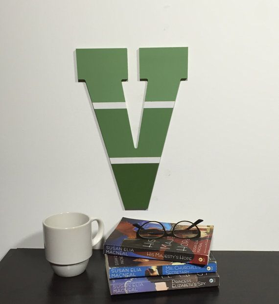Letter V Paint Chip Inspired Wooden Letters by IronRidgeDesigns