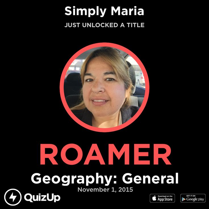 I just unlocked the title Roamer playing Geography: General on @QuizUp! - http://q.is/join