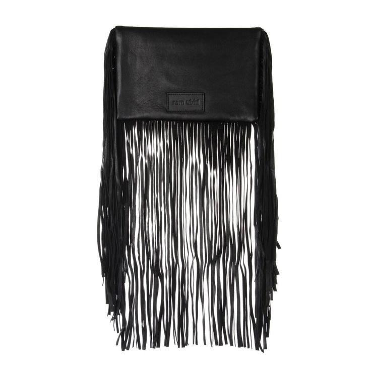 Sam Ubhi - Full Fringed Clutch Bag – All Black