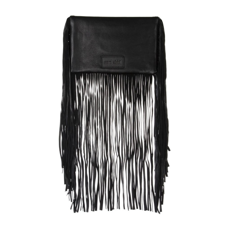 Sam Ubhi - Full Fringed Clutch Bag – All Black