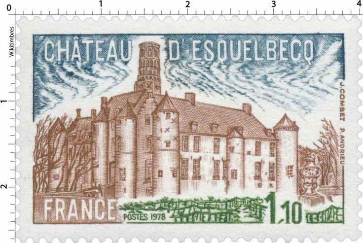 Timbre : 1978 CHÂTEAU D'ESQUELBECQ | WikiTimbres