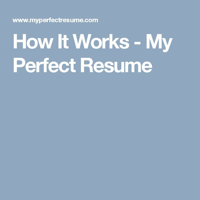 16 best Job hunting tips images on Pinterest Perfect resume - livecareer my perfect resume