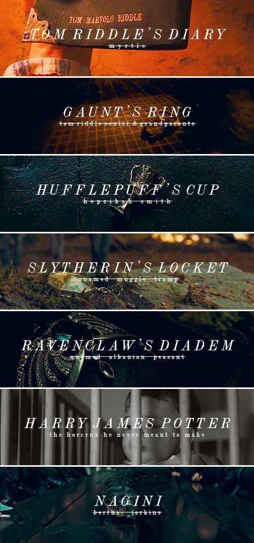 Harry Potter um horcrux (feito sem intenção) com a morte de seus pais, Lily e James Potter.