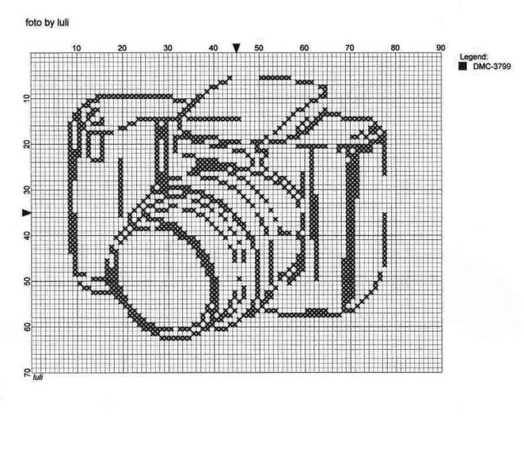 Crochet Outline Stitch : Camera outline Cross Stitch Patterns - Free Pinterest Cameras ...