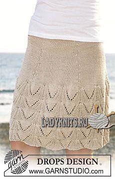 Летняя ажурная юбка спицами
