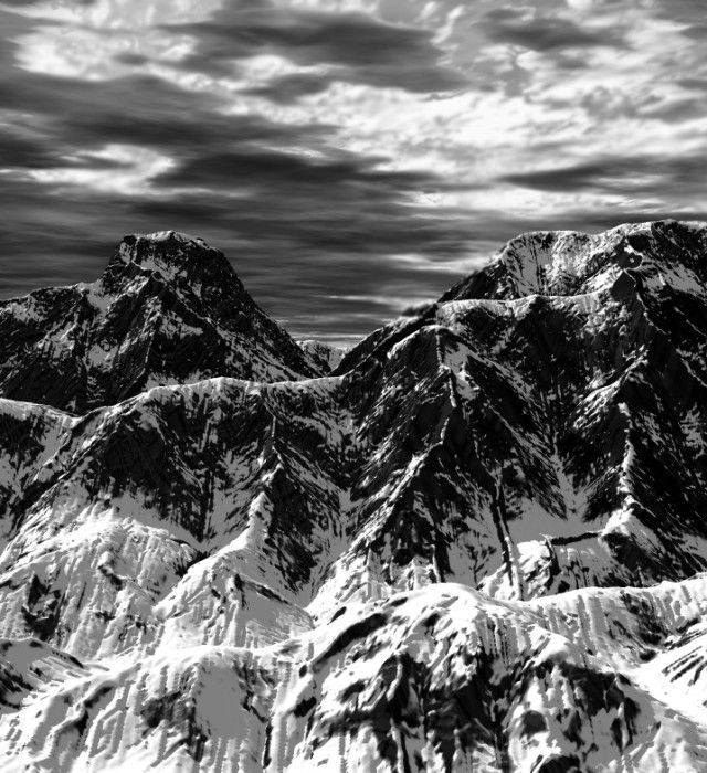 By ansel adams mountains