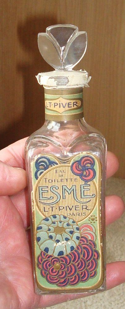 """Original Art Nouveau perfume bottle, """"ESME"""" L.T.Piver c.1900. Stunning!!!"""